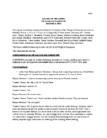 Village Board Minutes:  March 5, 2018