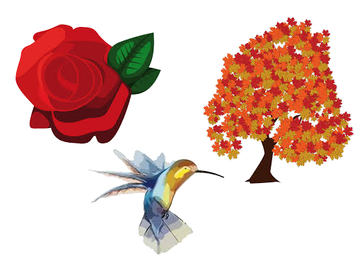 Village Bird, Tree, Flower