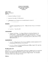 Village Board Agenda: January 3, 2017