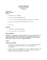 Village Board Agenda: January 17, 2017