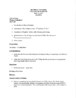 Village Board Agenda: May 1, 2017