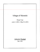 2014-2015 Village of Warwick Adopted Budget_sm