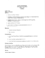 Village Board Agenda: June 5, 2017