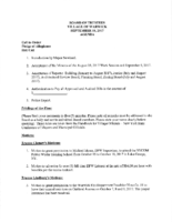 Village Board Agenda: September 18, 2017