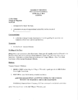Village Board Agenda: January 2, 2018