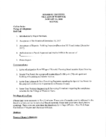 Village Board Agenda: January 16, 2018