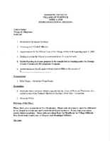 Village Board Agenda: April 2, 2018