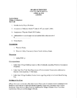 Village Board Agenda: April 16, 2018