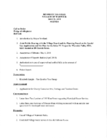 Village Board Agenda: May 21, 2018