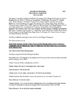 Village Board Minutes:  May 21, 2018
