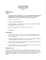 Village Board Agenda: September 17, 2018