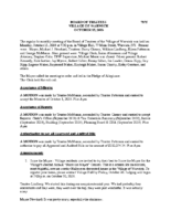Village Board Minutes: October 15, 2018