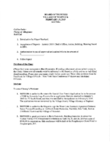 Village Board Agenda: February 19, 2019 – Addendum #2