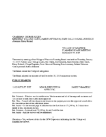 Planning Board Minutes: January 17, 2019