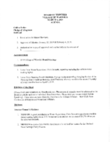 Village Board Agenda: March 4, 2019