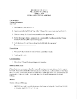 Village Board Agenda: April 1, 2019