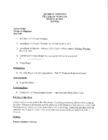 Village Board Agenda: March 18, 2019