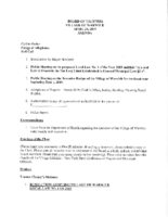 Village Board Agenda: April 29, 2019