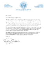 2018 Annual Water Report with Letter to Residents 5.15.19