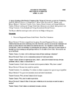 Village Board Special Meeting Minutes: April 10, 2019