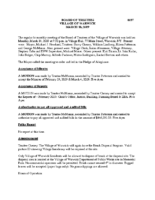 Village Board Minutes: March 18, 2019