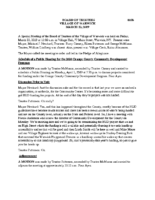 Village Board Minutes: March 22, 2019