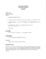 Village Board Agenda: May 20, 2019