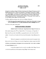 Village Board Minutes: April 29, 2019