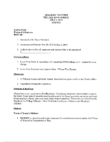 Village Board Agenda: July 1, 2019