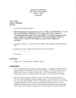 June 17, 2019 Village Board Agenda