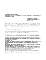 Planning Board Minutes:  May 14, 2019