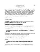 Village Board Minutes: July 1, 2019