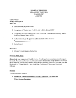 July 15, 2019 Village Board Agenda