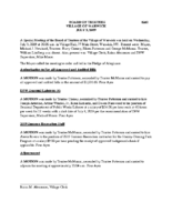 Village Board Special Meeting Minutes: July 3, 2019