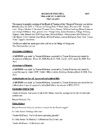 Village Board Minutes: May 20, 2019
