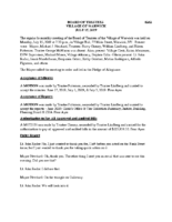Village Board Minutes: July 15, 2019