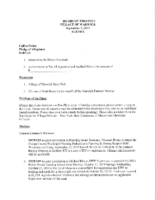 September 3, 2019 Village Board Agenda