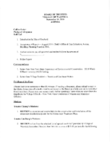 September 16, 2019 Village Board Agenda