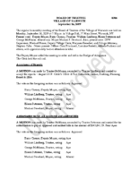 Village Board Minutes: September 16, 2019