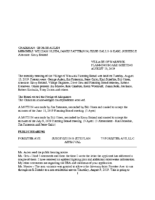 Planning Board Minutes: August 13, 2019
