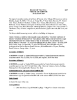 Village Board Approved Minutes: August 19, 2019