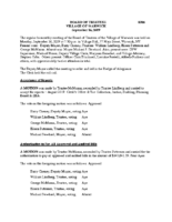 Village Board Approved Minutes: September 16, 2019
