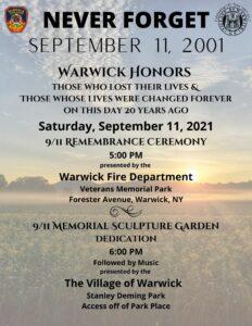 9/11 Remembrance Ceremony @ Veterans Memorial Park